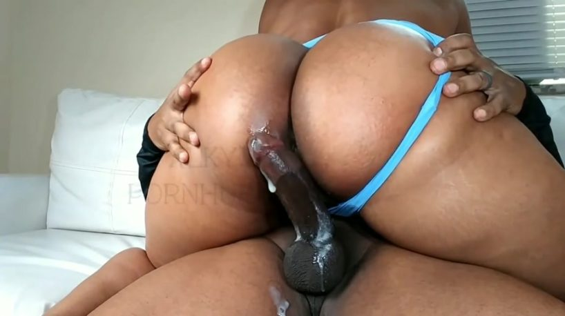 Curvy Ebony Double Creampie Doesn't Mean She'll Stop Riding