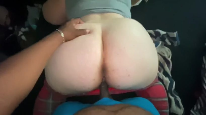POV Interracial BBW Creampie for Fat Ass Kimmie Breeze