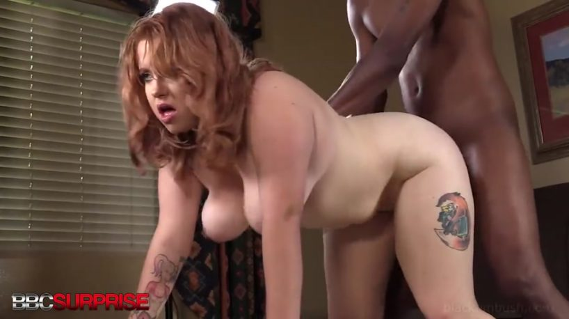 Getting a Chunky Young Redhead Pregnant After a Hard BBC Pounding