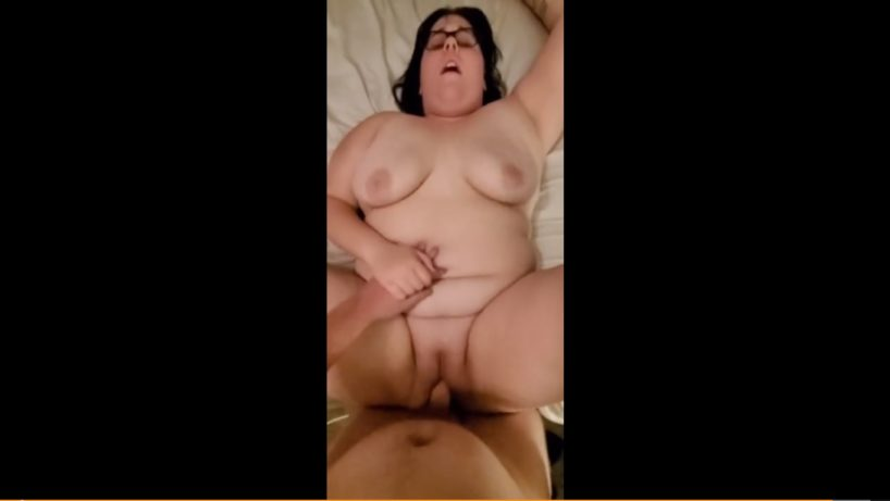 BBW Stepdaughter Creampie After Getting Caught Vaping