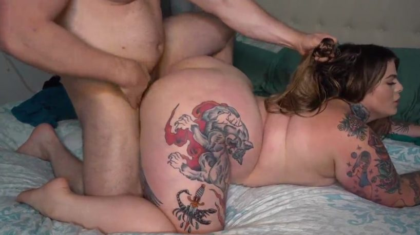 BBW Stepsister Creampie for a Gorgeous Inked Babe